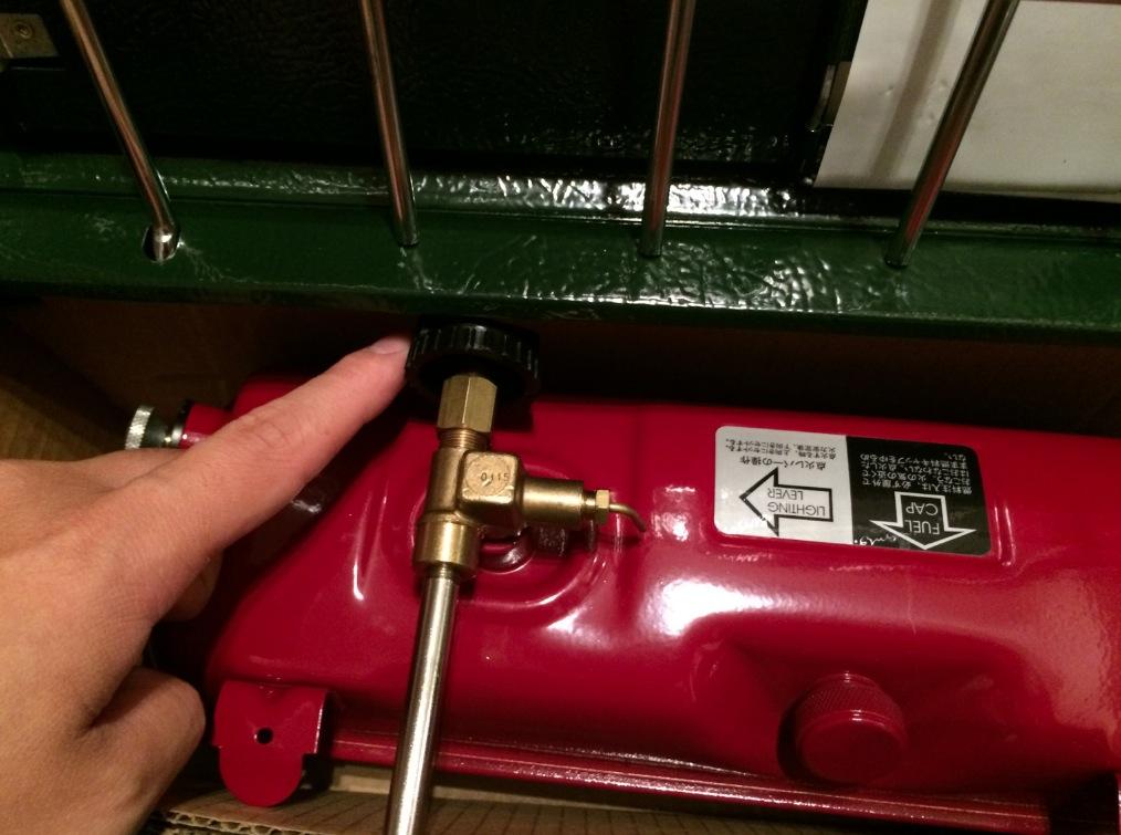 413Hパワーハウス ツーバーナーストーブ 燃料バルブ