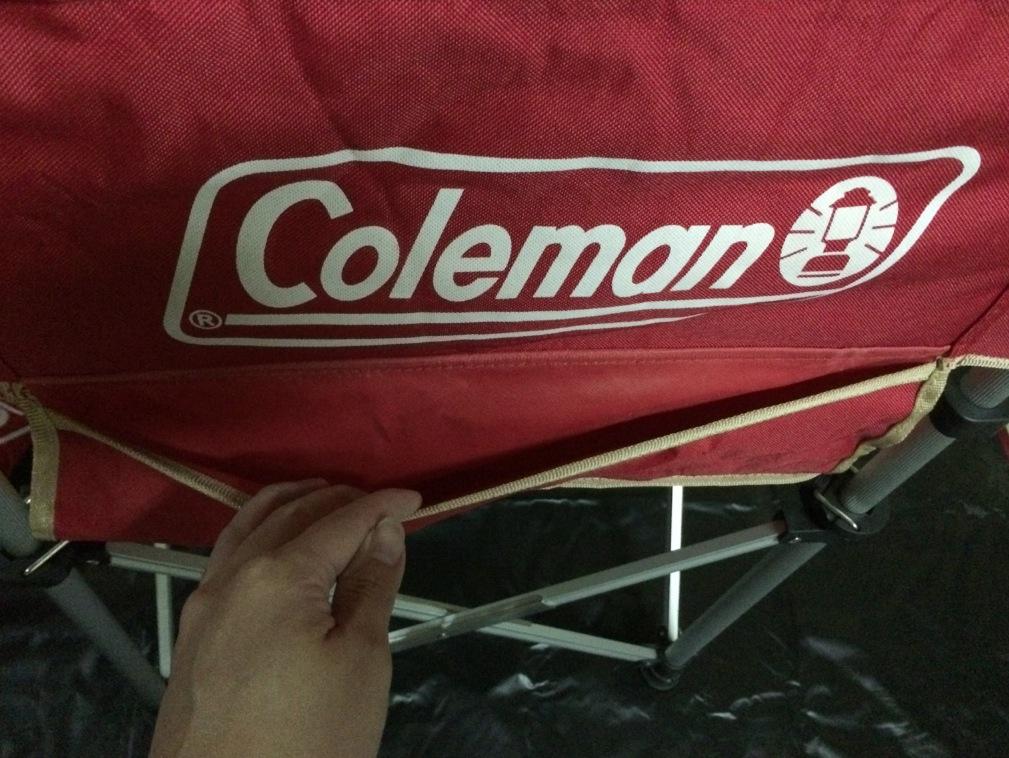 スリムキャプテンチェア レッド コールマン(Coleman) ポケット