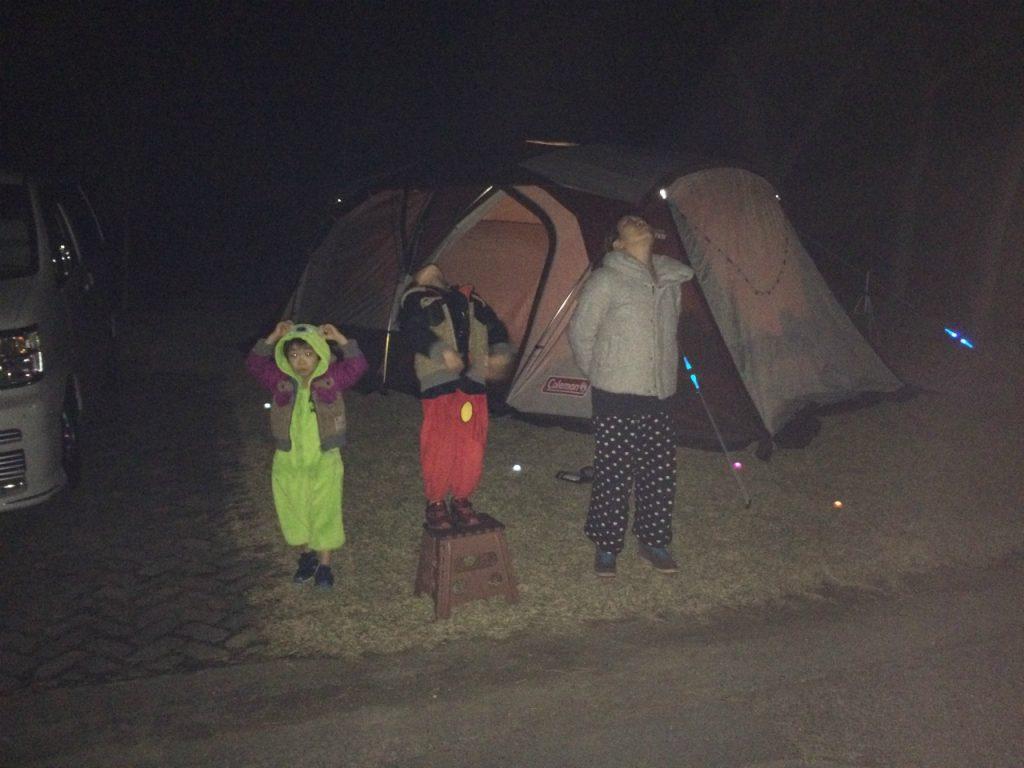 赤穂海浜公園オートキャンプ場で星空を見上げる