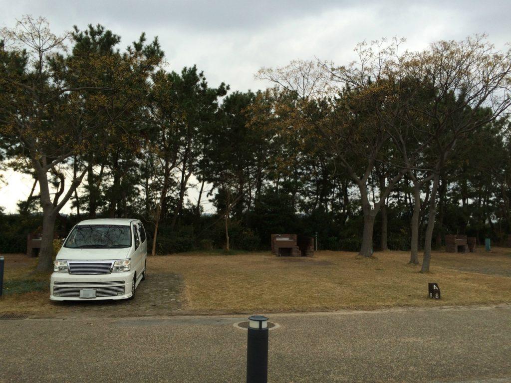 赤穂海浜公園オートキャンプ場 区画サイト