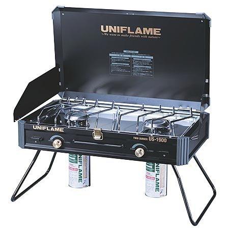 ユニフレームのツインバーナーUS1900ブラックモデル