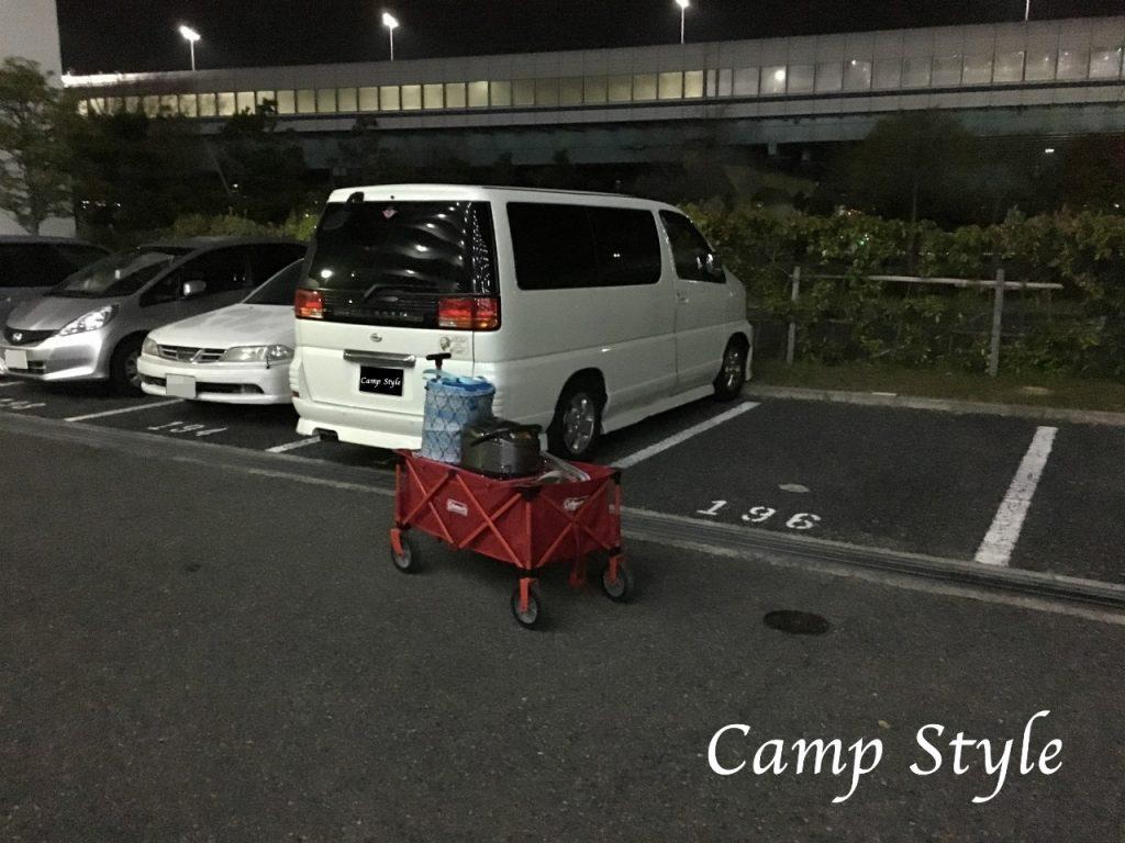 新田ふるさと村へ 荷物の積み込み