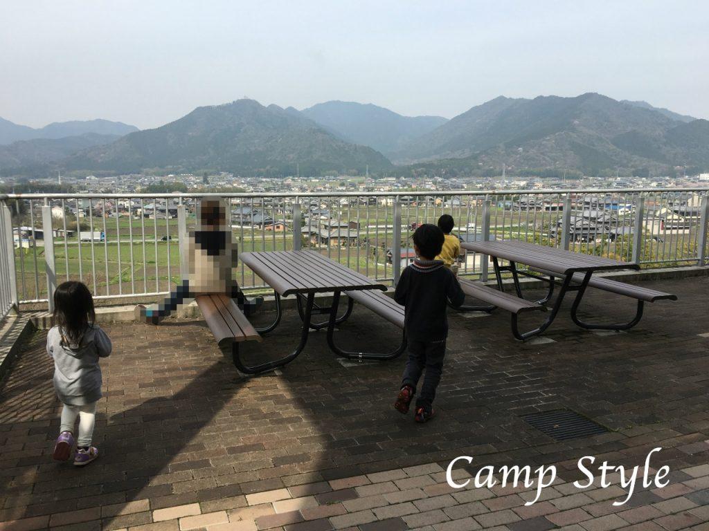 新田ふるさと村へ サービスエリアからの景色
