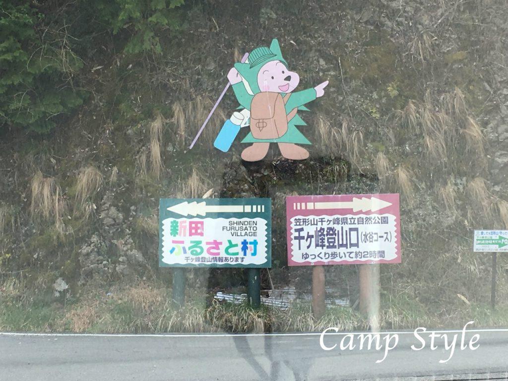 新田ふるさと村の看板発見